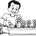 """ציורי פרחים לצביעה לט""""ו בשבט"""