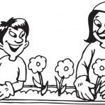 """דפי צביעה פרחים לחג ט""""ו בשבט"""
