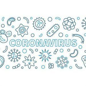 ציור של הוירוס קורונה לצביעה