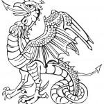 דף צביעה דרקון ציפור