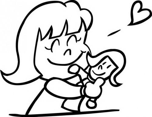 הבובה האהובה - דף צביעה