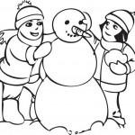 איש שלג שמח להדפסה