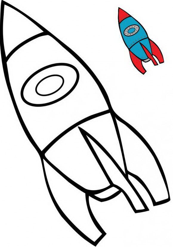 דפי צביעה לילדים עם הסבר כיצד לצבוע בקלות של חללית מדהימה.