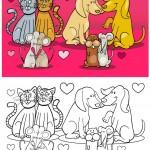 חתולים, כלבים ועכברים מאוהבים