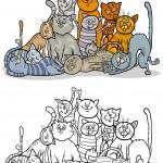 חתולים לצביעה חמודים מתפנקים יחדיו