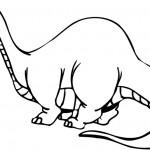 ציור מקסים של דינוזאור ארוך הצוואר