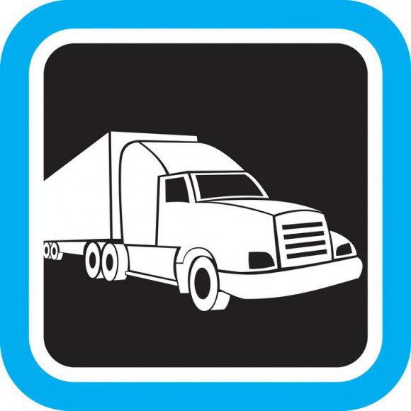 דפי צביעה לבנים של משאית מהימה שנדמה שדוהרת במהירות רבה אותה תוכלו בהנאה.