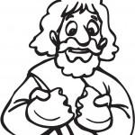 תמונה של אדם אוכל סופגנייה