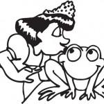 נסיכה מקסימה מנשקת צפרדע