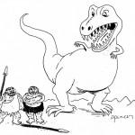 דינוזאור אימתני והאדם הקדמון