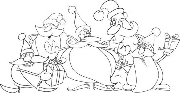 דפי צביעה לחגים שמחים ומרהיבים במיוחד לחג המולד המקסים ובוא מככב סנטה קלאוס.