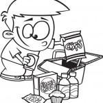 ילד חמוד אוכל חטיפים