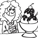 ילדה אוכלת גלידה טעימה