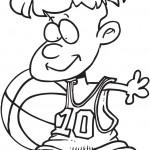 כדורסל לצביעה עם ילד מקסים