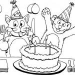 חתול ודובי חוגגים יום הולדת