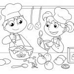 ילדים טבחים מבשלים ארוחה