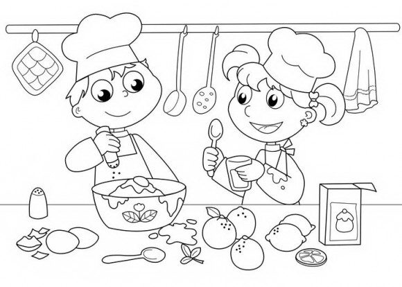 דפי צביעה אוכל ושלל דפי צביעה לילדים של טבחים, אוכל, ירקות ועוד אותם תוכלו לצבוע בהנאה.