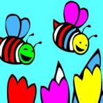 משחק צביעה דבורים